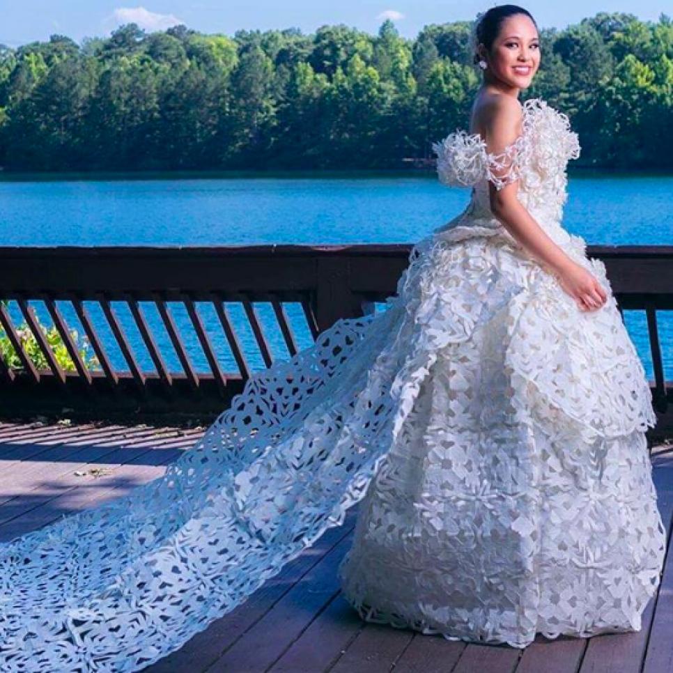 Wedding Dresses Made Out Of Unique Materials Weddings Tlc Com