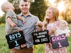 The Counting On couple will welcome their third child February 2021.