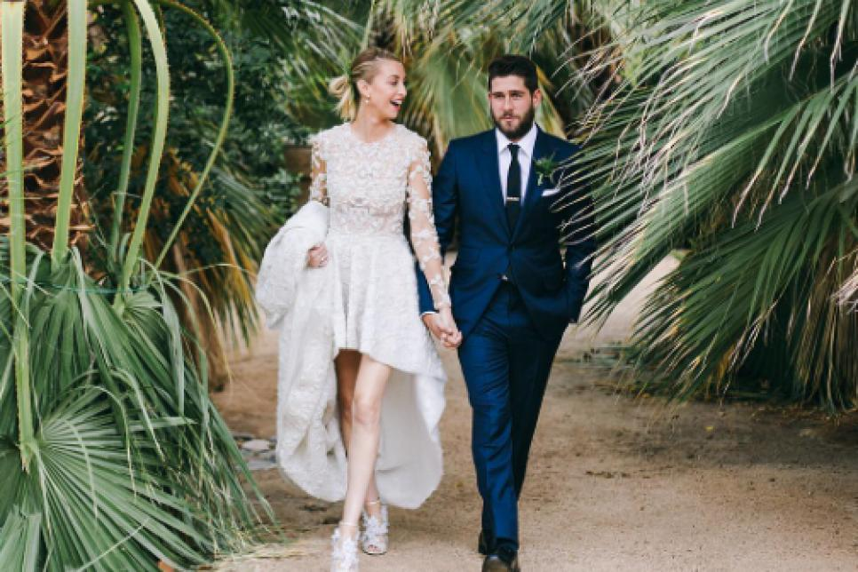aa0fa8f089c Celebrity Wedding Dresses We Are Still Swooning Over